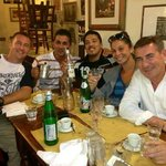 The Team with full bellies,¨some ¨wine,grappa and sambuca.Joy!!