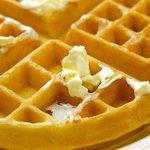 Fresh made waffle