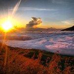 Gorgeous sunrise on top of Mt Batur