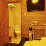 Einzelzimmer mit Blick auf Bad