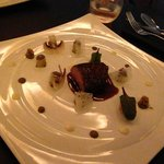 Very nice beef with cep's sauce