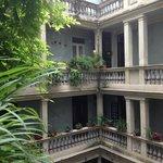 Beautiful courtyard of the B&B