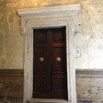 The door to the Deluxe room