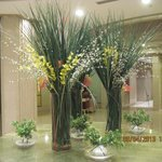 Beautiful flower arrangement in the front lobby.