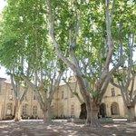 Old monastery courtyard