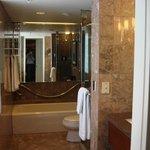 Bathroom, shower and tub.