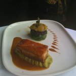 Pork belly, mushy peas, black pudding turned into a superb and genuinely British dish