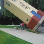 Everyone has their photo taken with the famous leaning tower of Wanaka time goes backwards.