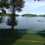 View of Lake Rosseau & beach area from room