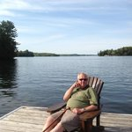 Relaxing on the dock...with view of Lake Rosseau
