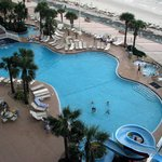 Nice pool complex viewed from South Tower Oceanfront Balcony.
