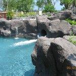 pool slide exit