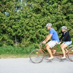 We rent out all types of bikes! A tandem is a great option for 2 to share!