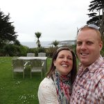 Paul and I in the stunning garden at the Rosevine