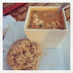 Panang Curry with brown rice