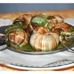 Schnecken-snails in garlic butter sauce