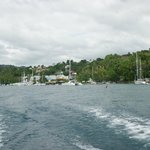 sailing back to castries