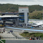 Pit Lane exit & control tower