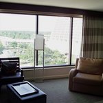 Living room looking out at the Contemporary resort