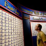 See the Survivors Wall of Stories at the Titanic Museum Attraction Branson, Mo.