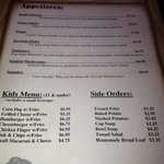 Dinner menu page 3