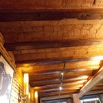 Original tiles ans beams in the ceiling