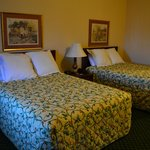 Double queen beds (comfortable and soft pillows)