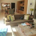 Rooftop suite living area
