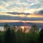 Sunset from the Zugerberg hill