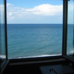 view to sea from bedroom