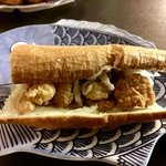 Shrimp po-boy.  Delish!