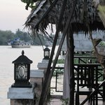 View on the Mekong River from the hotel garden