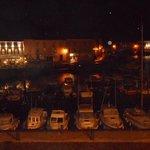 Vue du port la nuit