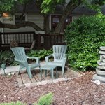 Garden seating with water element