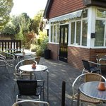 Our lovely relaxing  decking area