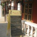 Signboard at Magandon