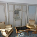 Salon area in suite
