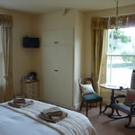 Double en-suite room with dual aspect windows over looking Coniston Old Man