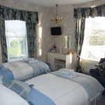 Our twin en-suite room with dual aspect windows
