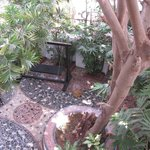 Patio/secluded garden in Posada
