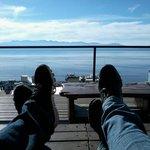 Relax desde terraza de Hostel Inn Bariloche