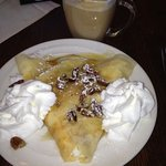 a SMALL banana pecan crepe with butter pecan latte - sugar fix for the week!