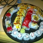 This was an order of two special rolls, plus some plain maki.  Wow.