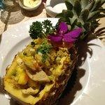 riz-poulet et ananas