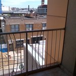 Balcony railing.