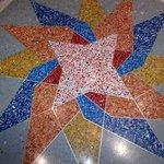 Lobby floor tile mosaic.