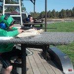 Grandsons taking aim