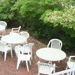 outdoor patio, great spot for breakfast