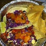 Wahoo fish tacos house style