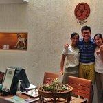 The warm staff and skilful therapist Khun Jern and Khun Tik.